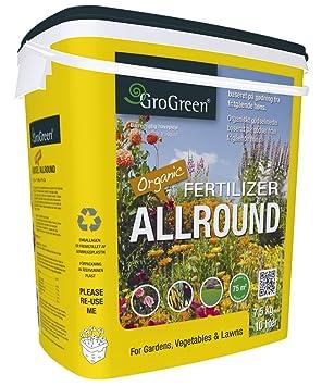 GroGreen Abono Orgánico Bio-Fertilizante Universal 4-3-2+1% Mg