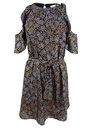 10434b9abf9 Michael Michael Kors Petite Metallic Star-Print Dress (SilverGold ...