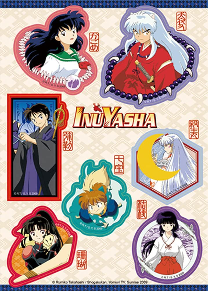 Inuyasha Characters Sticker Set, Multicolor