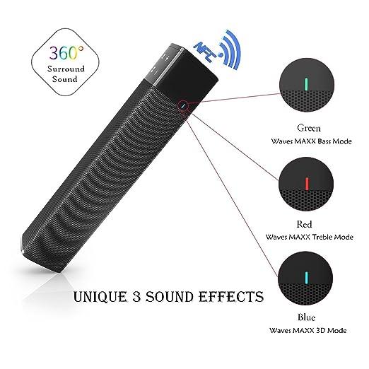 Altavoces inalámbricos de Bluetooth , MENGGOOD Altavoces inalámbricos portátiles de Bluetooth Altavoces estéreos de alta fidelidad con subwoofer Barra de ...