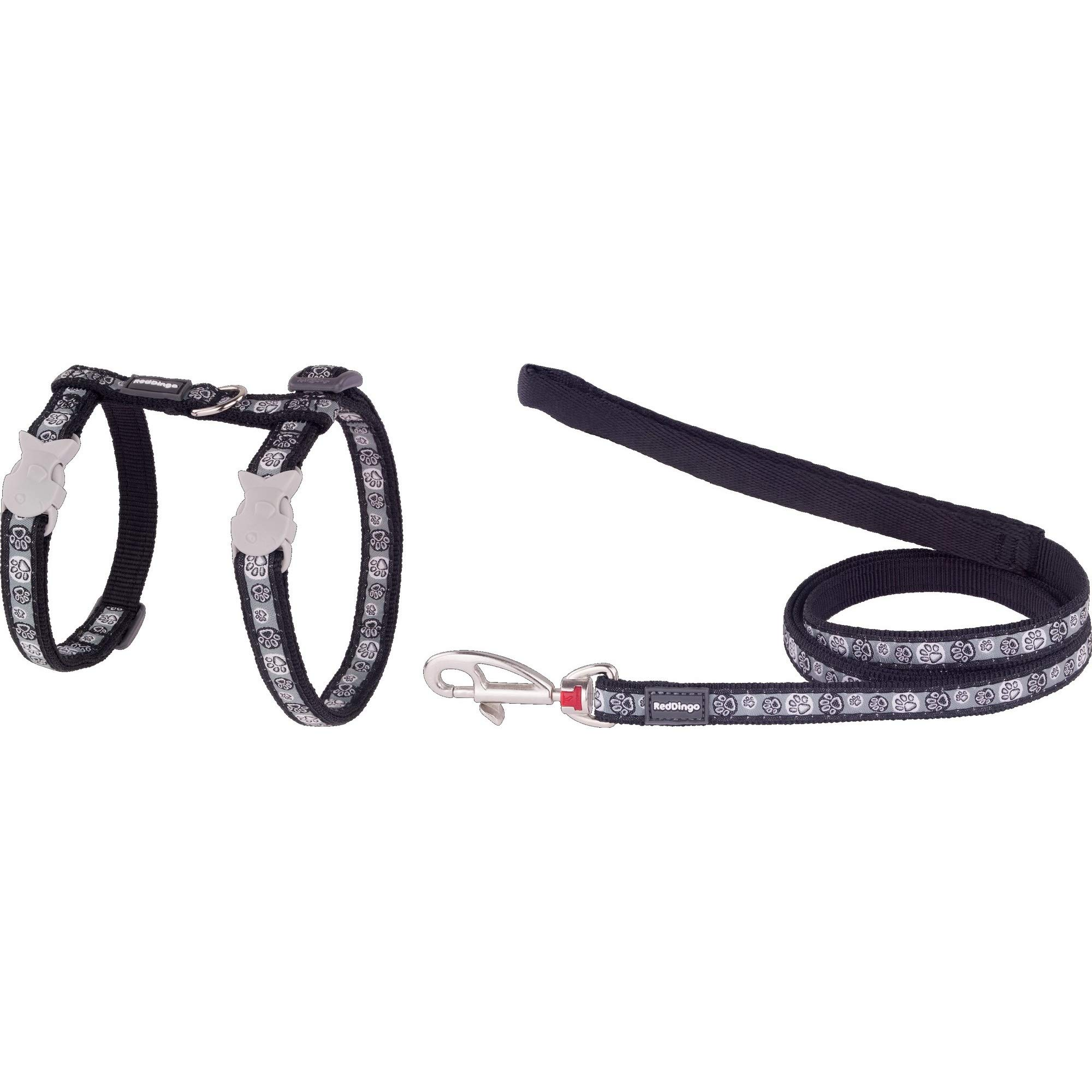Red Dingo GmbH 9330725042810Petral and Strap Cat Pawn Impress, S, Black