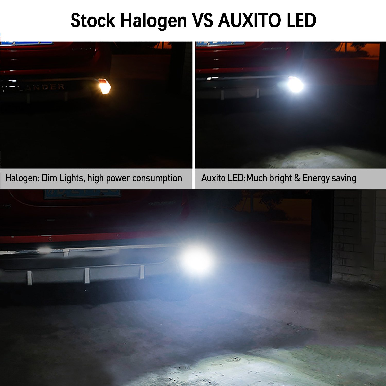 7443 Reverse Light Bulbs,AUXITO 1400 Lumens Super Bright Wedge 4014 102-SMD LED Chipsets 7440 7441 7444 992 W21W LED Bulbs with Projector for Backup Reverse Lights,6000K Xenon White