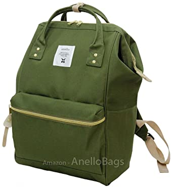 Image Unavailable. Image not available for. Color  Japan Anello Backpack  Unisex MINI SMALL KHAKI Rucksack Waterproof Canvas ... ff76ee8a3fee3