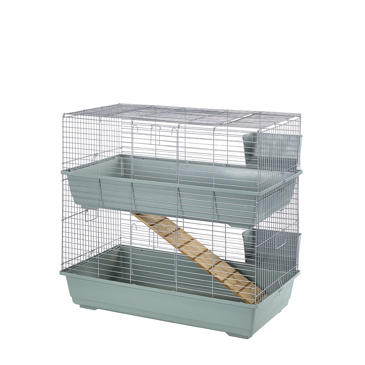 Beige Silver 80 cm Beige Silver 80 cm Little Friends Double Tier Rabbit Cage, 80cm, Beige Silver