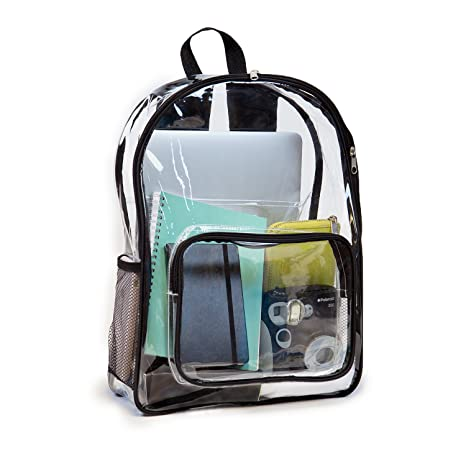 Amazon.com  See Me - Clear Backpack with Laptop Sleeve by JumpOff Jo ... 6dae940208ad