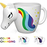 Color Changing Unicorn Mug - 3D Coffee Mugs Rainbow Design, Your morning cup of coffee or tea will never be the same…