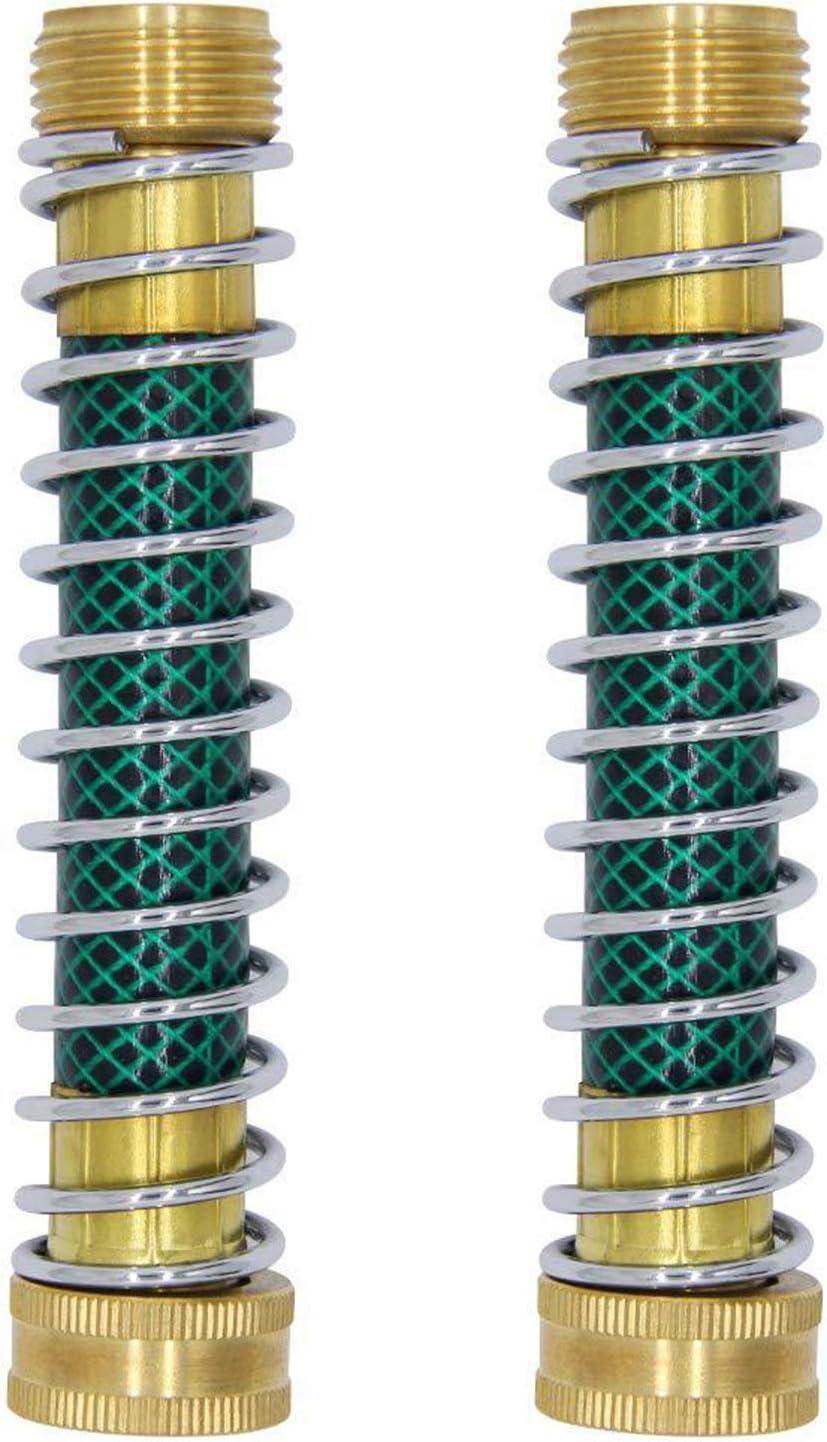 CREPRO Garden Hose Protector, Garden Hose Extension Adapter, Hose Saver Kink Protector with Coil Spring, 2 Pack