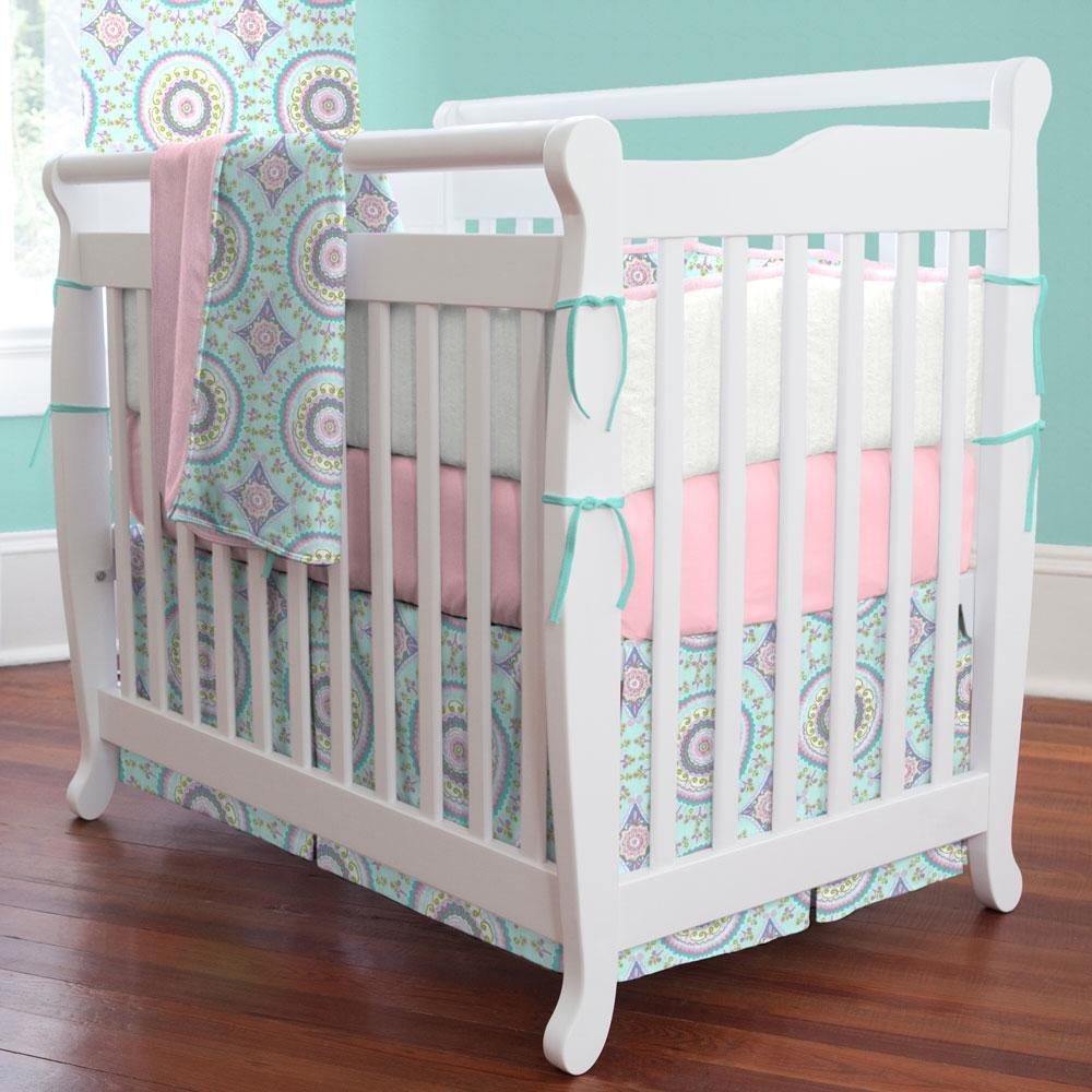 Carousel Designs Aqua Haute Baby Mini Crib Blanket by Carousel Designs   B00VQR2306