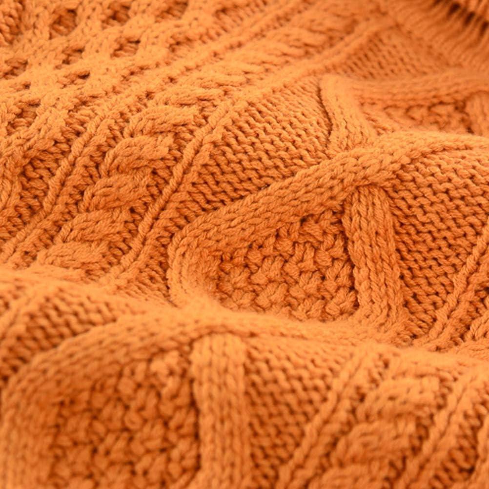 BINPAW Kids Fleece Lined Twisted Turtlneck Sweater 12 Months-10 Years
