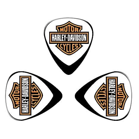pimalico Classic Harley diseño Púas (3 unidades) para guitarra eléctrica, guitarra acústica,
