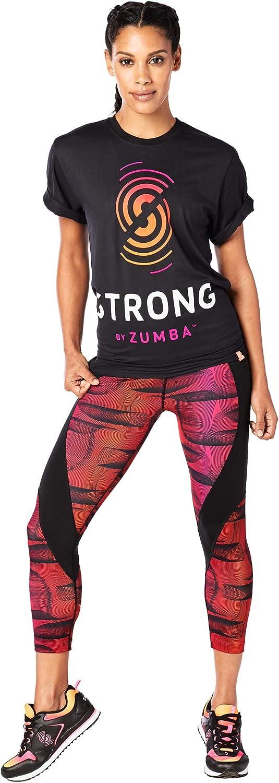 XL//XXL Back to Black Zumba Fitness Damen Strong by Zumba Tee Unisex Tops