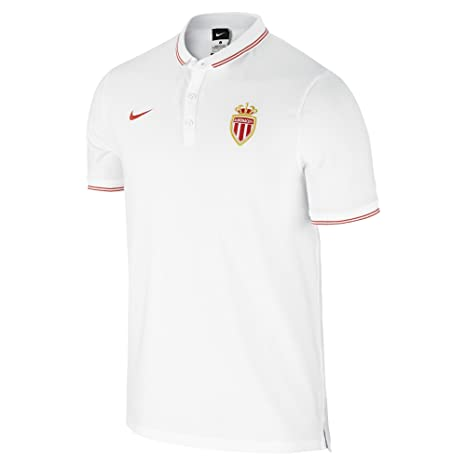 2014-2015 Monaco Nike Authentic League Polo Shirt (White): Amazon ...