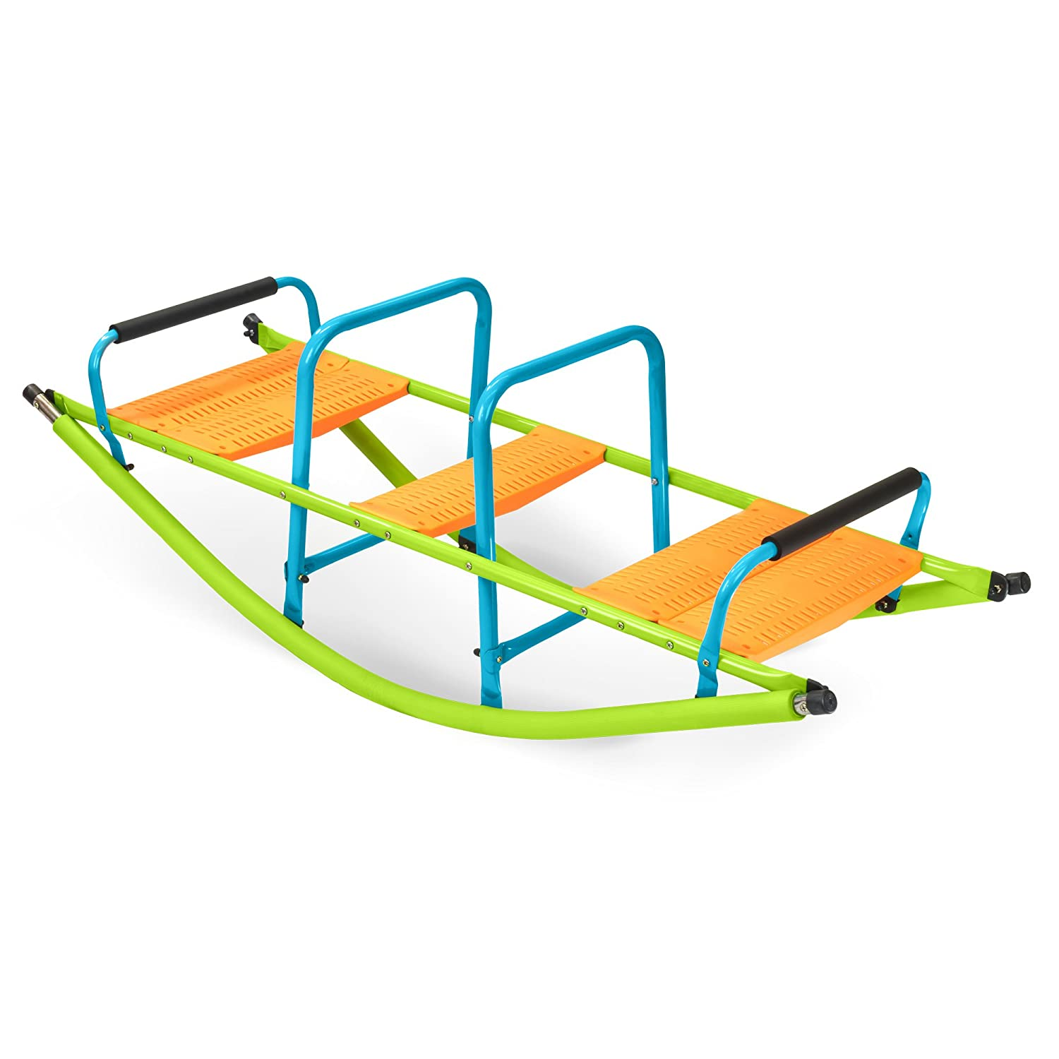 Pure Fun Home Playground Equipment: Rocker Seesaw, Youth Ages 4 to 10 Pure Global 9306RS