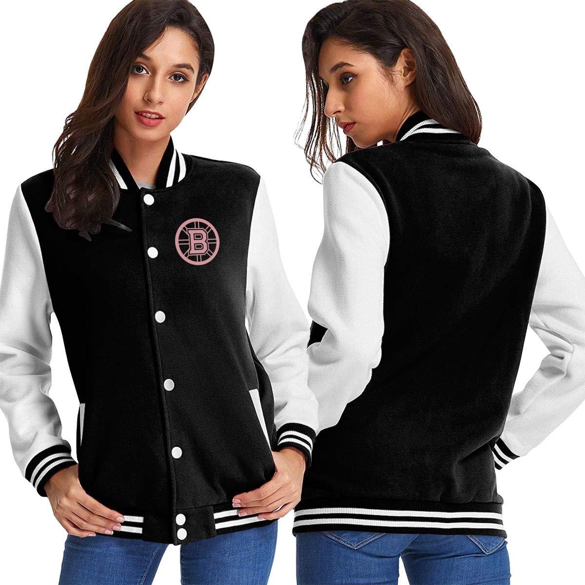 Black Women Basketballsadw PinkPresBostonBruinsLogo Baseball Uniform Jacket