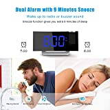 TOPELEK Projection Alarm Clock, 7'' Curved-Screen
