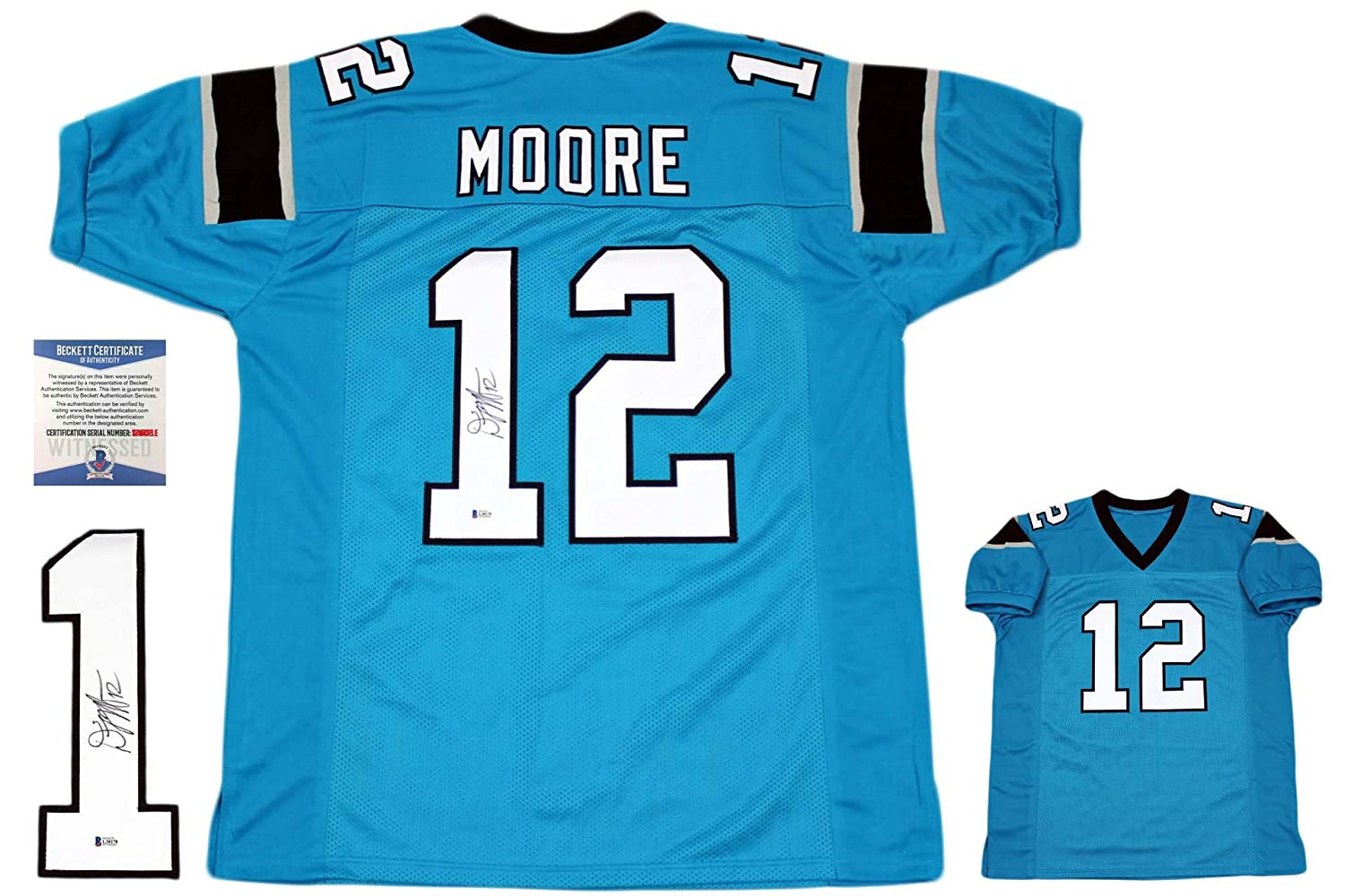 Dj Moore Autographed Signed Jersey - Beckett Authentic - Blue