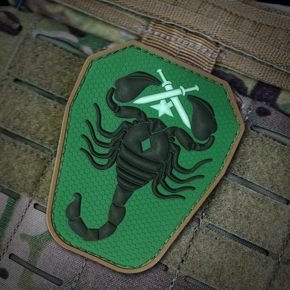 Ropa t/áctica y Mochila Cobra Tactical Solutions 43 Scorpion Unit US Army PVC Patch avec Fermeture Velcro Motivational Military PVC Patch con Cierre de Velcro para Airsoft Paintball