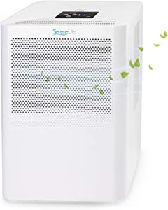 hOmeLabs SereneLife Portable Energy-Saver Ultra-Quiet & Electric Small Dehumidifier, 3 Pints Volume Capacity, Space Up to 322 Sq. ft. for Bedroom, Bathroom, RV, Closet & Basement, Assorted