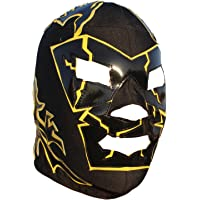 Dr. Wagner Lucha Libre Luchador Mask One Size Lycra Black Yellow