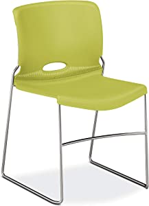 HON Olson High-Density Stacking Chair, Set of 4, in Lime (H4041)