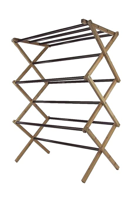 Vanderbilt Home Bamboo And Steel Constructed Folding Drying Rack