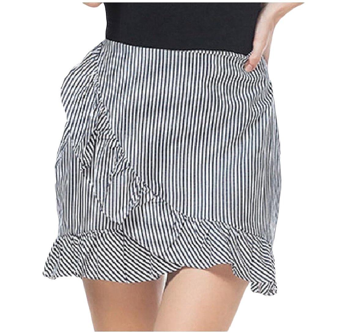 474424d9 SportsX Womens Unique Hem Line Flounced Zipper Splice Short Skirt at ...