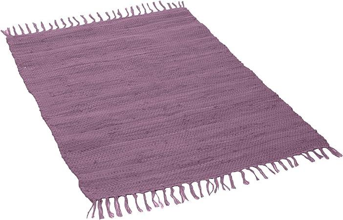 Mano Web Alfombra, algodón, Mauve, 120 x 180 cm: Amazon.es: Hogar
