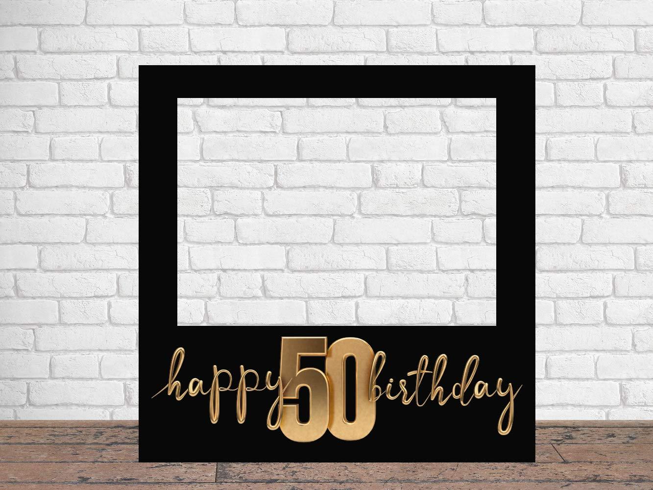 Regalos Personalizados de Cumplea/ños Photocall Feliz 50 Cumplea/ños 100 x100 cm Regalos para Cumplea/ños Ideas para Regalos Photocall Econ/ómico y Original