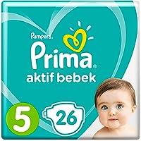 Prima Bebek Bezi Aktif Bebek,5 Beden, 26 Adet, Junior Paketi