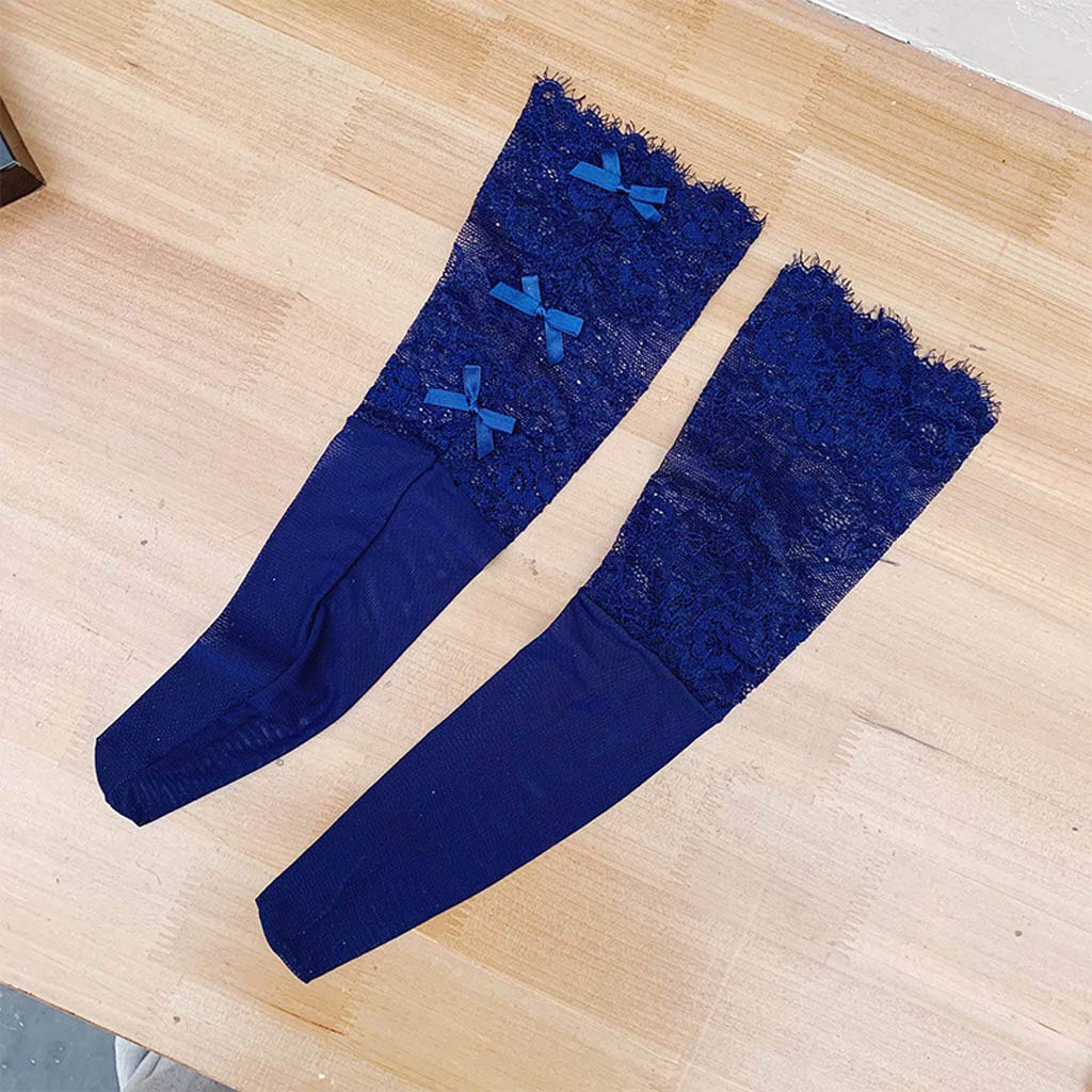 Cegduyi Womens Summer Charming Thin Breathable Stockings Lace Bow Cute Stockings Ladies Casual Socks