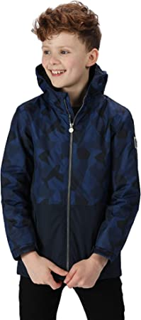 Regatta Kids Selwyn Waterproof Printed Hooded Insulated Jacket