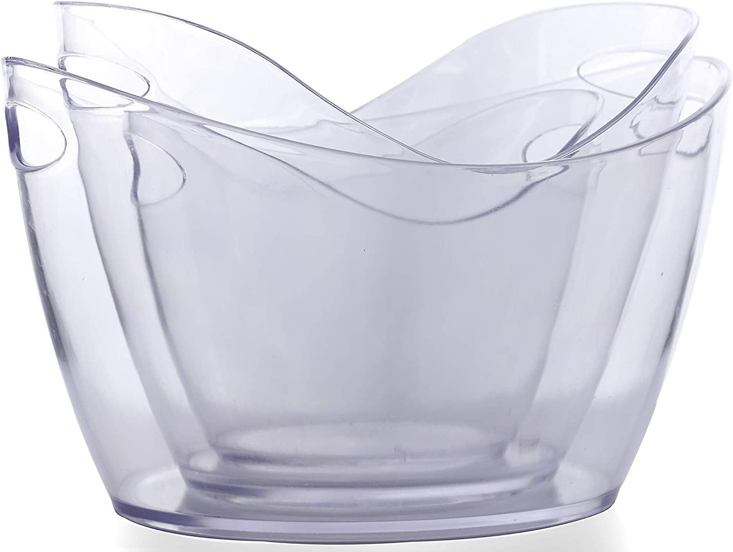 Clear Acrylic Food Grade Ice Bucket; Wine Chiller & Party Beverage Tub (3, 4L+8L+12L)