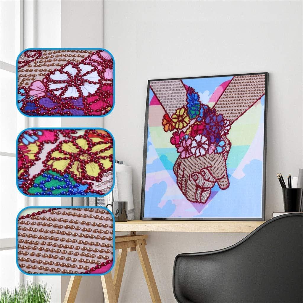 Mikilon Diamond Painting DIY 5D Special Shape Rhinestones Girls Back, 10x10 in Partial Drill Crystal Diamond Dotz Kits