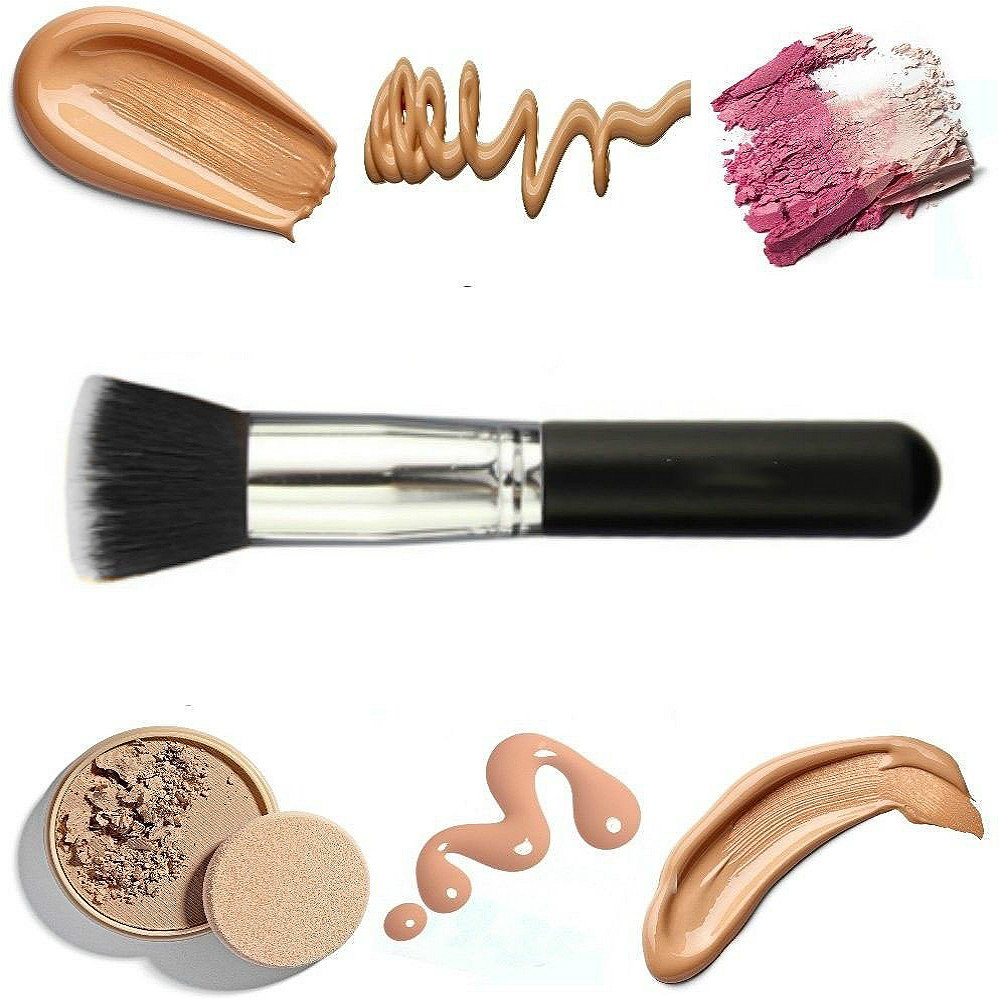 Vinmax Foundation Brush Flat Top,Kabuki for Face Makeup Perfect For Blending Liquid-Buffing, Stippling, Concealer