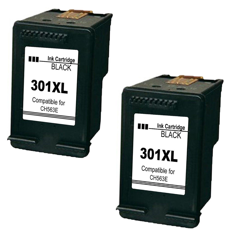 4inx Cartuchos Reemplazo para HP 301XL 301 XL V1 Set de cartuchos de tinta remanufacturados, negro y color, con nivel de tinta, 4507 e-AiO 4643 (2x ...