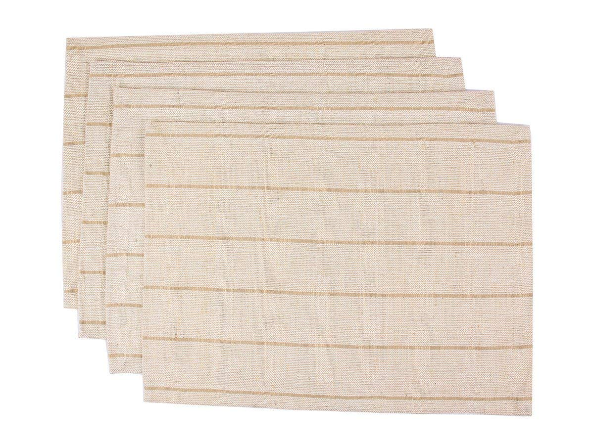 Placemats for Kitchen Dining Table Set of 4 Tablemats Hand Woven Jute Beige Color Kitchen Dining Decor Accessories