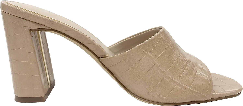 The Drop Womens Pattie High Block Heeled Mule Sandal