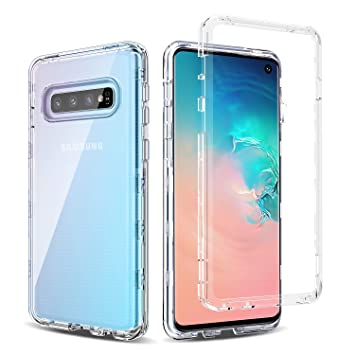 BENTOBEN Samsung Galaxy S10 Funda, Carcasa Samsung S10 Transparente Cristal 3 en 1 Carcasa Combinada Dura PC Bumper y Silicona TPU Suave Resistente ...