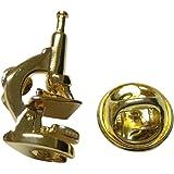 Gold Toned Scientific顕微鏡ラペルピン