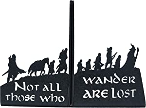 HeavenlyKraft Decorative bookends for Shelves Decorative Metal Bookend, Non Skid Book End, Book Stopper for Home/Office Decor/Shelves, 5.9 X 3.9 X 3.14 Inch Per Piece (with Quote on Product)