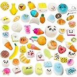 Random 10pcs Slow Rising Kawaii Squishy Medium Mini Soft Bread Toys Panda Buns Cake Cute Face Charm Stress Relief Squeeze Food Phone Straps