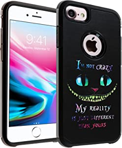Cheshire Quotes iPhone 6S Case, IMAGITOUCH 2-Piece Style Armor Case with Flexible Shock Absorption Case and Cheshire Cat Quotes Cover Case for iPhone 6S / 6 – Cheshire Cat Quotes Hybrid