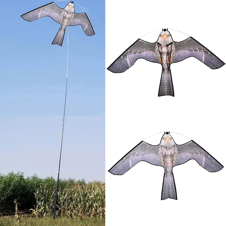 Cowslip Ahuyentador de pájaros con forma de cometa y control de plagas natural, protección contra los molestos – Cometa para niños y adultos (140 x 85 cm)