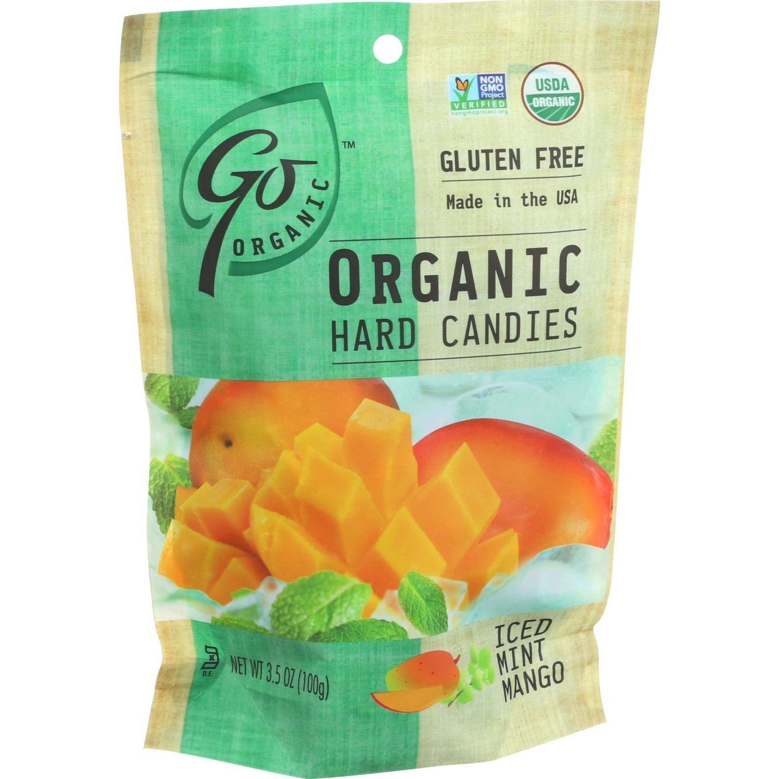 Go Organic Hard Candy Iced Mint Mango, 6 Count