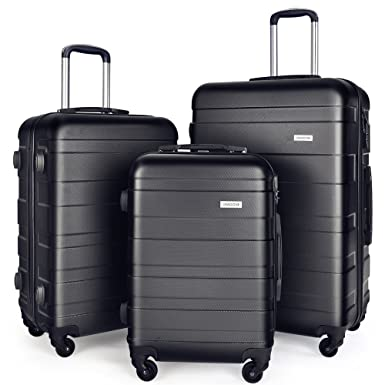 Amazon.com | Luggage Set Spinner Trolley Suitcase Hard Shell Carry ...