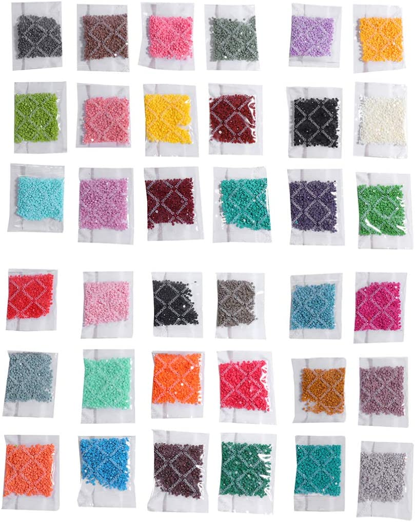 SUPVOX 36 Packs Diamond Painting Replacement Round Diamonds for Missing Drills of Diamond Cross Stitch