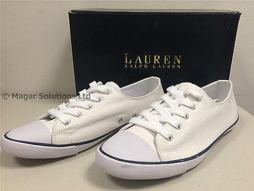 Ralph Lauren - Zapatillas de Deporte de Lona Mujer: Amazon.es: Zapatos y complementos