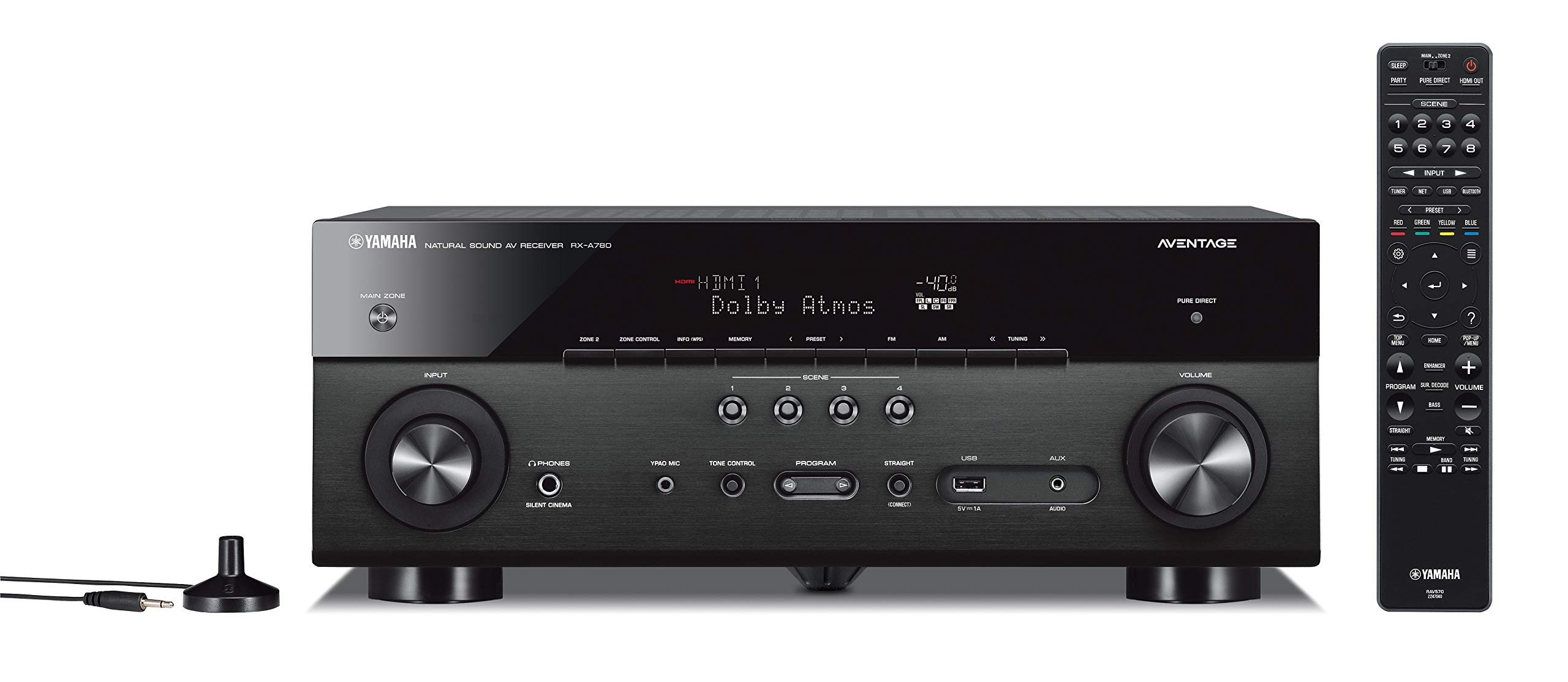 Yamaha RX-A780 AVENTAGE 7.2-Channel AV Receiver with MusicCast - Black by Yamaha Audio