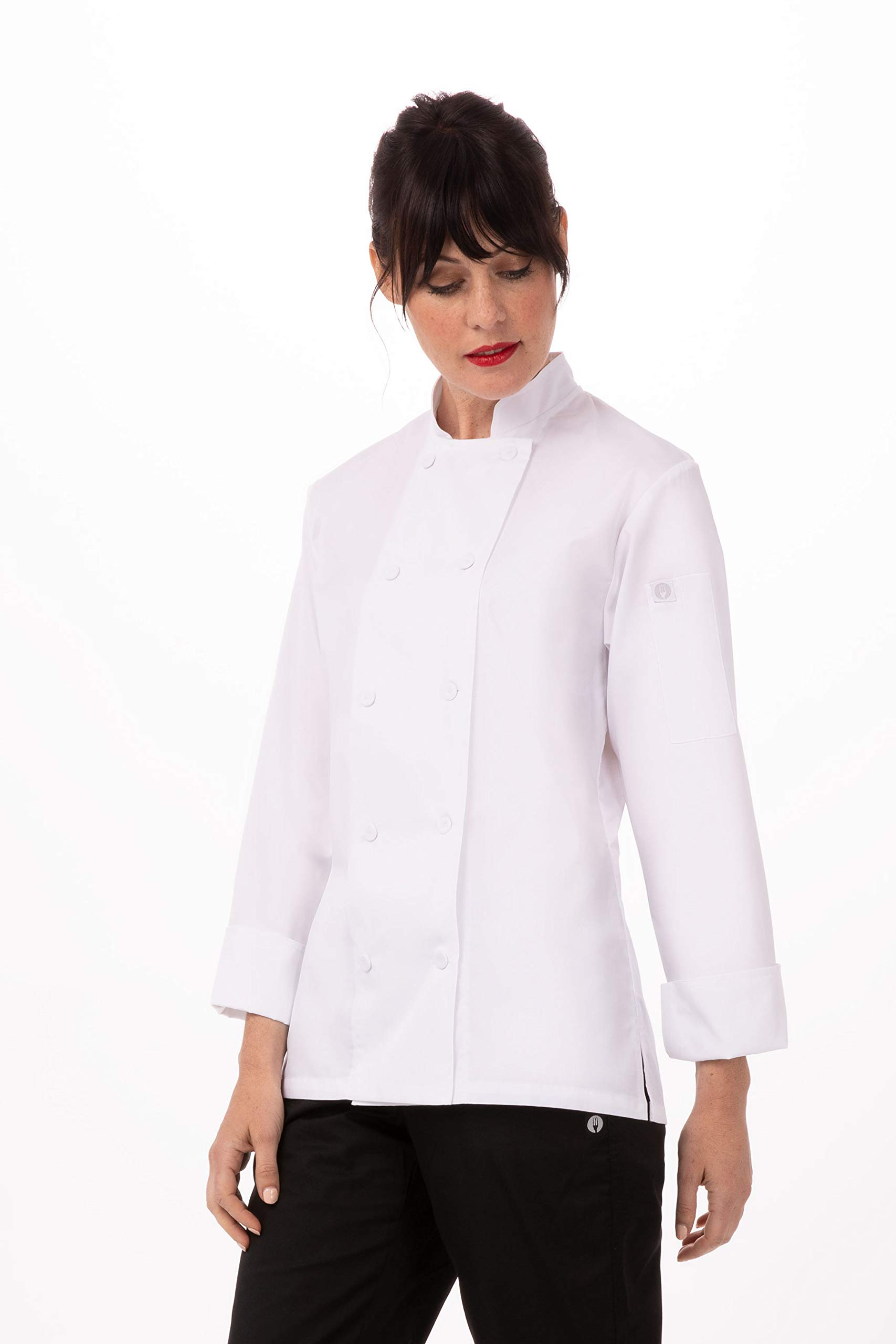 Chef Works Women's Sofia Chef Coat, White, Small by Chef Works