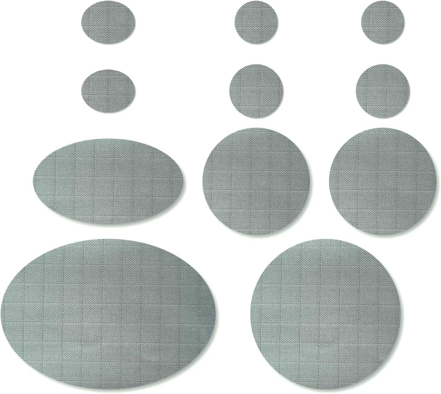 4 x 8 Pouces 8 Feuilles Patch de R/éparation de Doudoune Patchs en Tissu Auto-Adh/ésifs Kit de Patch de R/éparation Lavable pour Sacs V/êtements noir